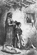SPAIN: A Gispy's toilet at Diezma, antique print, 1881
